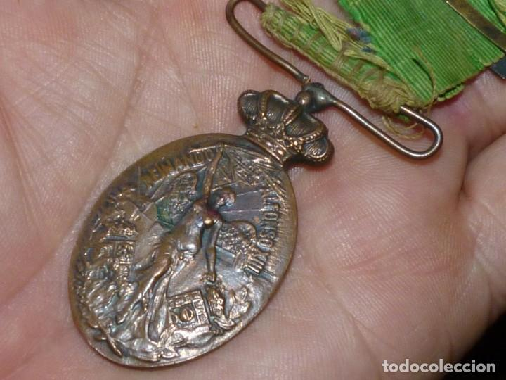 Militaria: MEDALLA BIFAZ ALFONSO XIII CAMPAÑA DE MARRUECOS 1916 PASADOR MELILLA CON MUCHA VIDA - Foto 4 - 171273834
