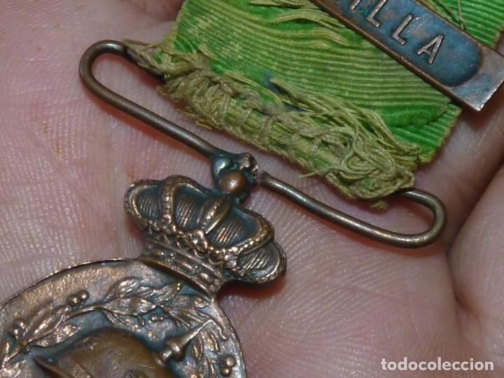Militaria: MEDALLA BIFAZ ALFONSO XIII CAMPAÑA DE MARRUECOS 1916 PASADOR MELILLA CON MUCHA VIDA - Foto 5 - 171273834
