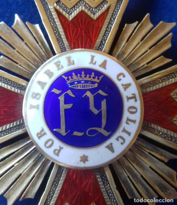 Militaria: ENCOMIENDA ORDEN ISABEL LA CATOLICA - EPOCA DE FRANCO - Foto 4 - 171604463