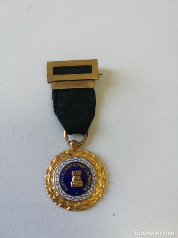 MINIATURA SUFRIMIENTOS POR LA PATRIA. VIUDAS. (Militar - Medallas Españolas Originales )