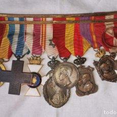 Militaria: PASADOR 8 MEDALLAS. GUERRA CIVIL, MARRUECOS, ITALIA, ALFONSO XIII Y OTRAS. Lote 171640227