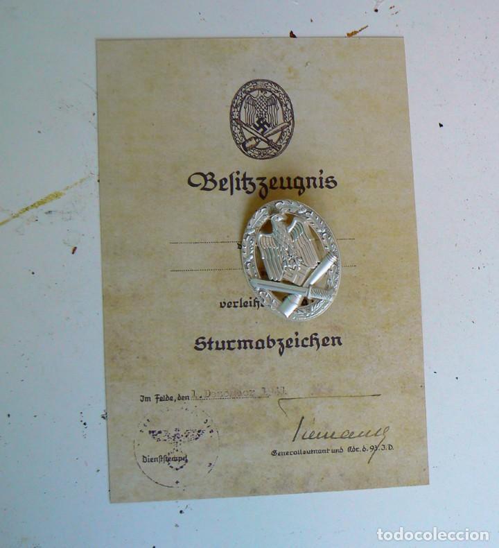 Militaria: Insignia de asalto general.Tercer Reich. nazi - Foto 2 - 171730828