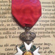 Militaria: MEDALLA FRANCESA CRUZ LEGIÓN DE HONOR. ÉPOCA NAPOLÉON. PLATA Y ESMALTES.. Lote 171740012