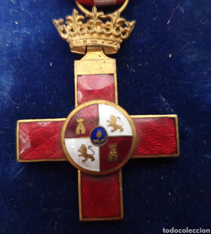 CRUZ AL MERITO MILITAR, DISTINTIVO ROJO (Militar - Medallas Españolas Originales )