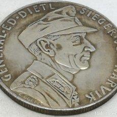 Militaria: RÉPLICA MEDALLA GENERAL EDUARD DIETL. BATALLA DE NARVIK. 10-6-1940. II GUERRA MUNDIAL, ALEMANIA. Lote 172391724