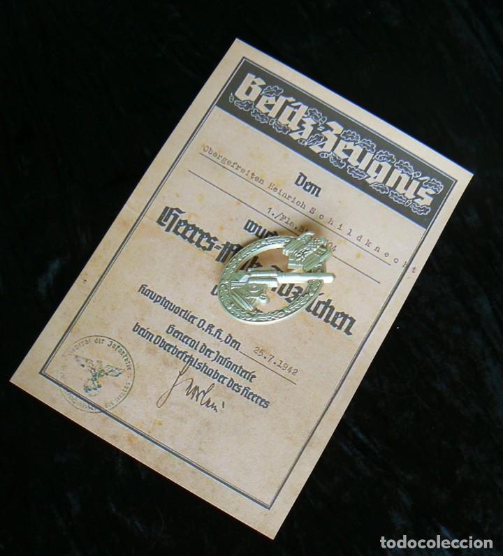 INSIGNIA ANTIAÉREA DEL EJÉRCITO.TERCER REICH. NAZI (Militar - Reproducciones y Réplicas de Medallas )
