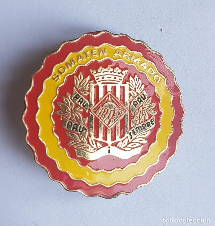 PLACA SOMATENES ARMADOS - TAMAÑO GRANDE (Militar - Medallas Españolas Originales )