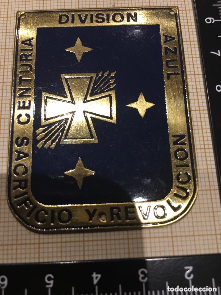 Militaria: Placa OJE-Falange Centuria División Azul Sacrificio y Revolución - Foto 2 - 172959685