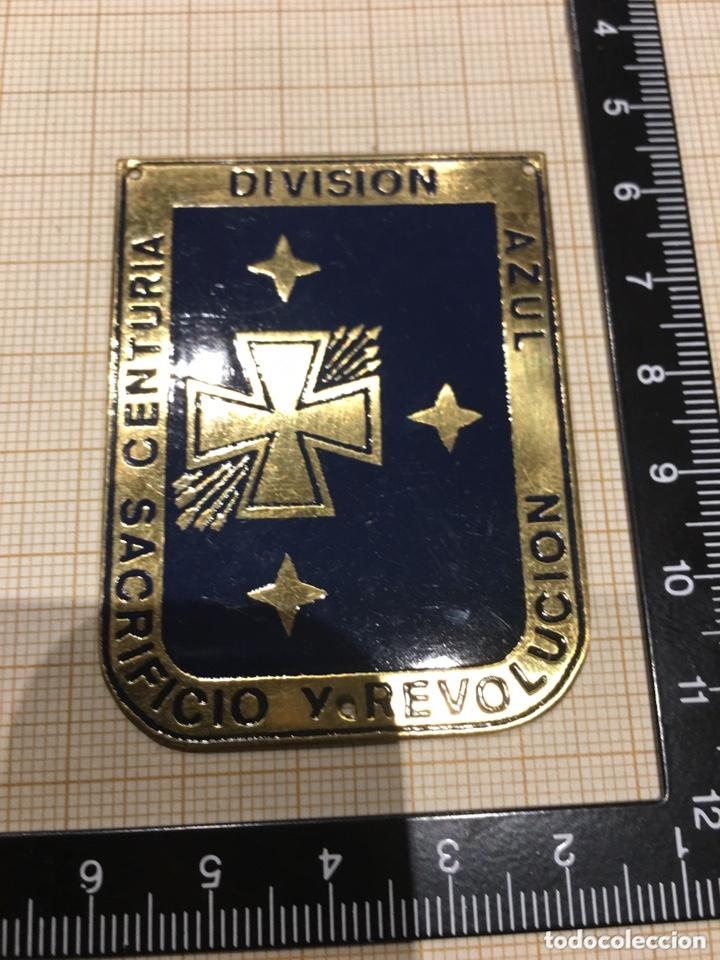 Militaria: Placa OJE-Falange Centuria División Azul Sacrificio y Revolución - Foto 3 - 172959685