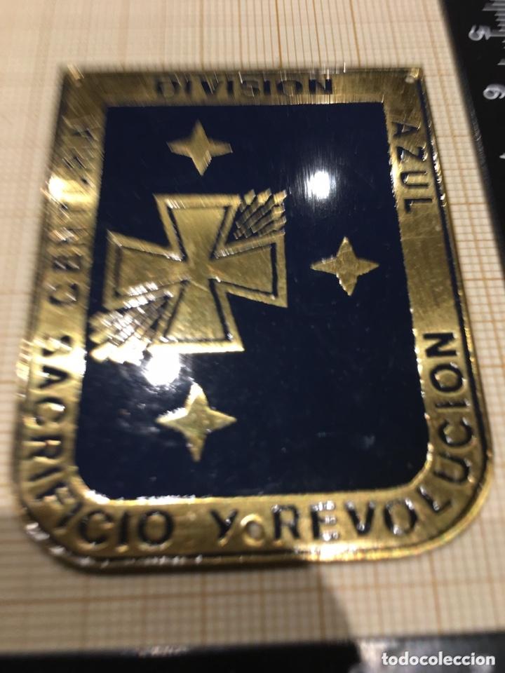 PLACA OJE-FALANGE CENTURIA DIVISIÓN AZUL SACRIFICIO Y REVOLUCIÓN (Militar - Reproducciones y Réplicas de Medallas )