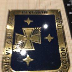 Militaria: PLACA OJE-FALANGE CENTURIA DIVISIÓN AZUL SACRIFICIO Y REVOLUCIÓN. Lote 172959685