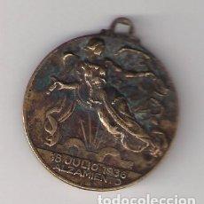 Militaria: MEDALLA PROPAGANDISTICA DEL ALZAMIENTO Y VICTORIA. ANVERSO Y REVERSO FIRMADO. COBRE. MD10. Lote 173054747