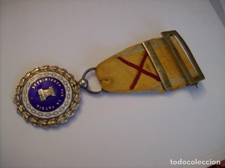 MEDALLA SUFRIMIENTOS POR LA PATRIA DESEMBARCO DE ALHUCEMAS COMBATES DE CUDIA TAHAR 13 9 1925 (Militar - Medallas Españolas Originales )