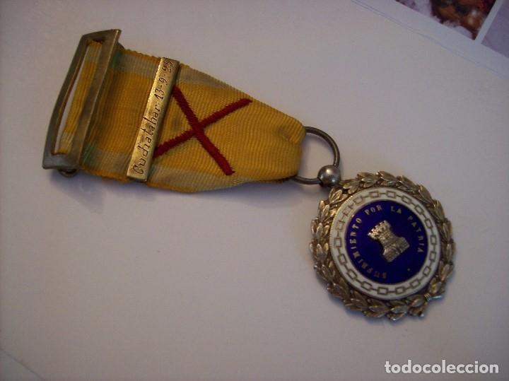 Militaria: MEDALLA SUFRIMIENTOS POR LA PATRIA DESEMBARCO DE ALHUCEMAS COMBATES DE CUDIA TAHAR 13 9 1925 - Foto 2 - 173398877