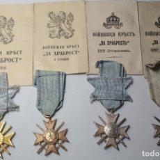 Militaria: SET COMPLETO MEDALLAS VALOR BULGARIA( TROPA Y SUBOFICIALES )1915/41 CON SOBRES ENTREGA MUY RARO!!!!. Lote 173445777