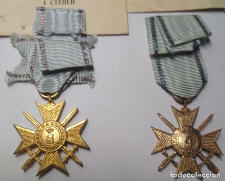 Militaria: Set completo Medallas valor Bulgaria( tropa y suboficiales )1915/41 con sobres entrega Muy raro!!!! - Foto 4 - 173445777
