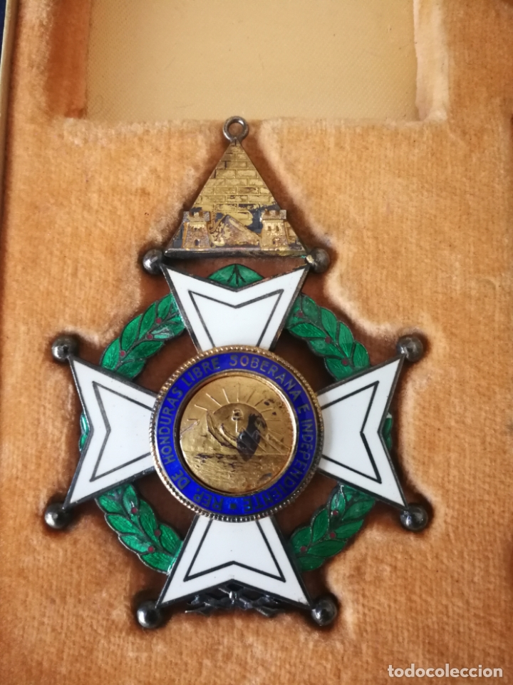 Militaria: CRUZ ORDEN FRANCISCO MORAZAN HONDURAS MEDALLA ESMALTE - Foto 14 - 173501685