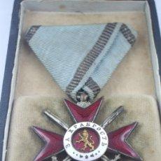 Militaria: BULGARIA, ORDEN AL VALOR 4ª CLASE, 2º GRADO, VERSIÓN 1880 A 1912/13.GUERRA BALCANES. 100% ORIGINAL. Lote 173549393