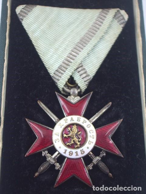BULGARIA ORDEN AL VALOR 4ª CLASE, 2º GRADO, VERSIÓN 1915. ENTREGADA A OFICIALES ALEMANES EN PGM (Militar - Medallas Extranjeras Originales)