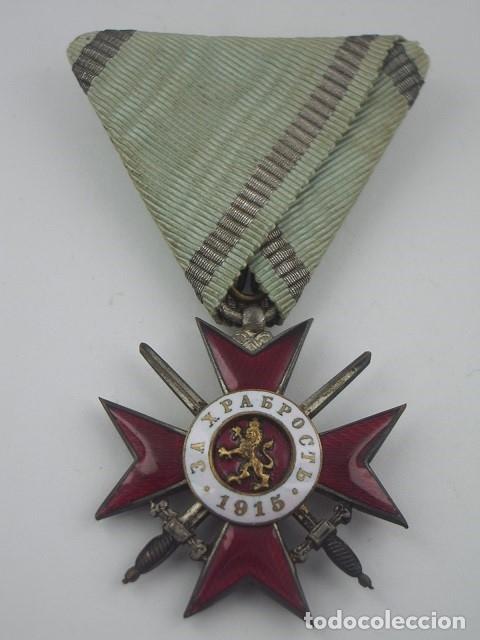 Militaria: Bulgaria Orden al Valor 4ª Clase, 2º Grado, Versión 1915. Entregada a oficiales alemanes en PGM - Foto 4 - 173549768