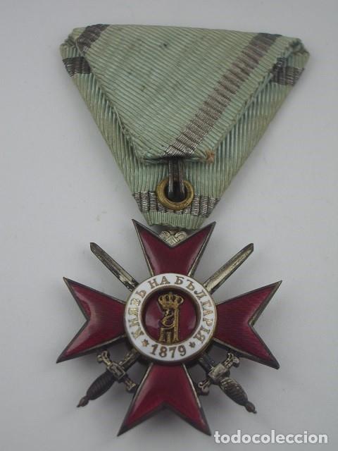 Militaria: Bulgaria Orden al Valor 4ª Clase, 2º Grado, Versión 1915. Entregada a oficiales alemanes en PGM - Foto 5 - 173549768