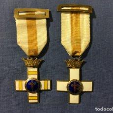 Militaria: 2 MEDALLAS A LA CONSTANCIA MILITAR ( 1 PENSIONABLE CON DISTINTIVO BLANCO Y AMARILLO ). Lote 173597349