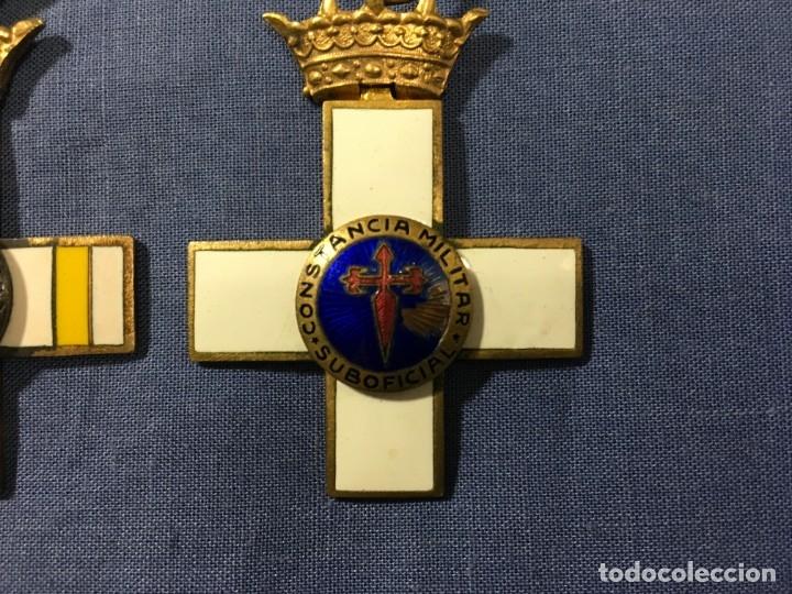 Militaria: 2 MEDALLAS a la constancia militar ( 1 pensionable con distintivo BLANCO y AMARILLO ) - Foto 3 - 173597349