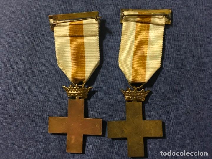 Militaria: 2 MEDALLAS a la constancia militar ( 1 pensionable con distintivo BLANCO y AMARILLO ) - Foto 4 - 173597349
