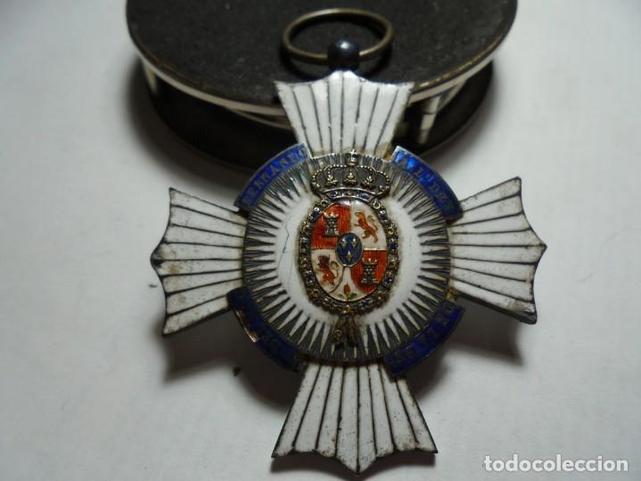 MAGNIFICA ANTIGUA CONDECORACION ESMALTADA,FIDELIDAD MILITAR REY FERNADO VII,SALIDA 1 EURO (Militar - Medallas Españolas Originales )