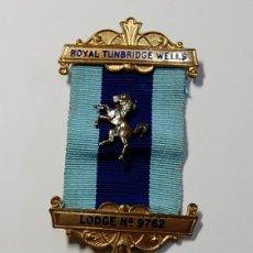 Militaria: MEDALLA MASONICA INGLESA DE PLATA MACIZA DE 1985.EXTRAORDINARIO ESTADO.. Lote 174014432