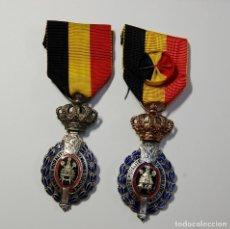Militaria: 2 MEDALLAS DEL TRABAJADOR DE BELGICA.SON DE 1ª Y 2ª CLASE.TOTALMENTE ORIGINALES.. Lote 174073415