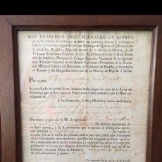 Militaria: CERTIFICADO /CÉDULA DE CONCESIÓN DE LA CRUZ DE DISTINCIÓN ÉPOCA FDO. VII. Lote 174345020