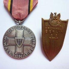 Militaria: POLONIA: 1945 - MEDALLA Y PLACA DE LA CAPTURA DE BERLÍN. SEGUNDA GUERRA MUNDIAL.. Lote 174668678