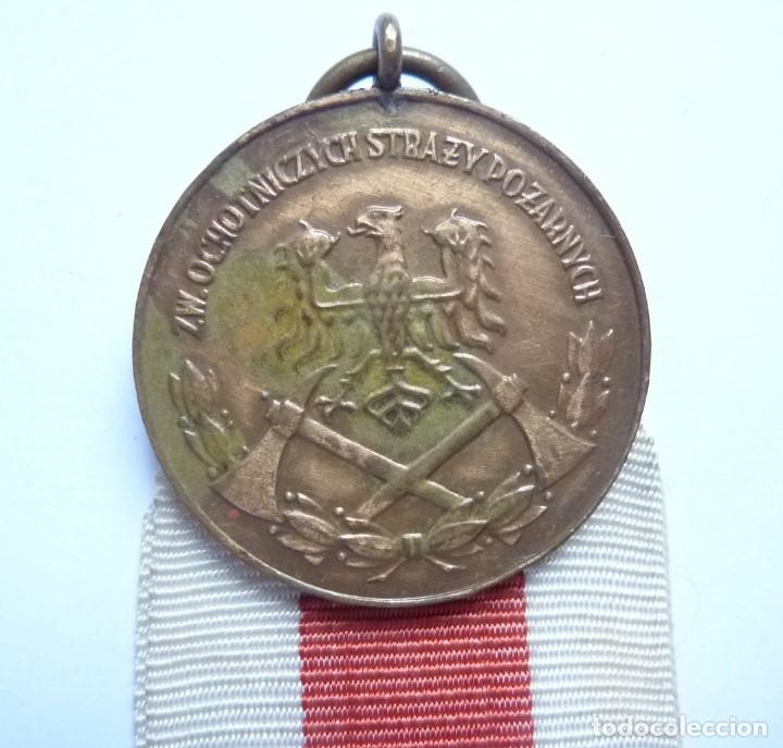 POLONIA: MEDALLA AL MÉRITO DE LOS BOMBEROS, CATEGORÍA DE BRONCE. (Militar - Medallas Extranjeras Originales)