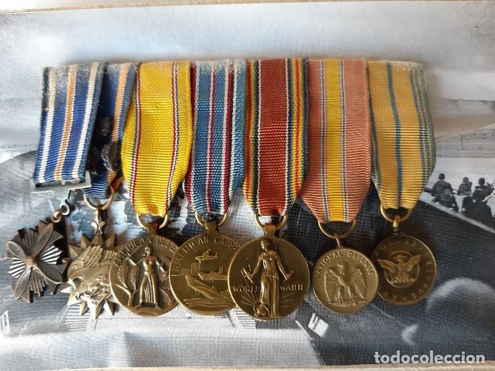 Militaria: WW2. ESTADOS UNIDOS. PASADOR MEDALLAS PILOTO. CON MARCO - Foto 2 - 175193058