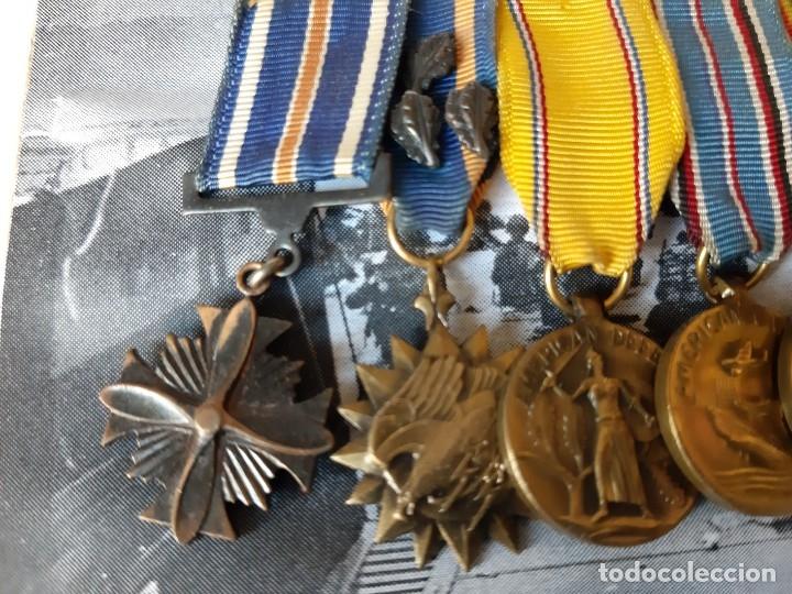 Militaria: WW2. ESTADOS UNIDOS. PASADOR MEDALLAS PILOTO. CON MARCO - Foto 3 - 175193058