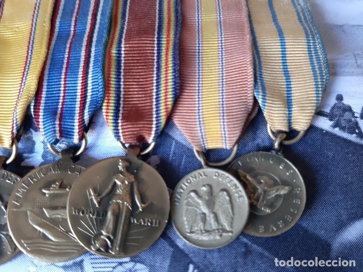 Militaria: WW2. ESTADOS UNIDOS. PASADOR MEDALLAS PILOTO. CON MARCO - Foto 4 - 175193058