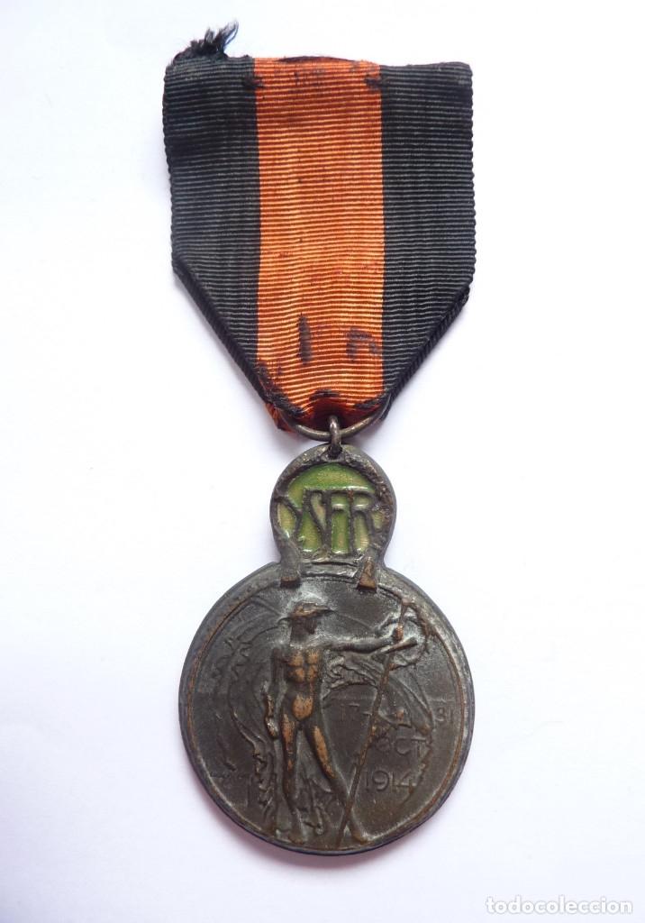 Militaria: Bélgica: Medalla de la Batalla de Yser (1914). Primera Guerra Mundial - Foto 2 - 175212710