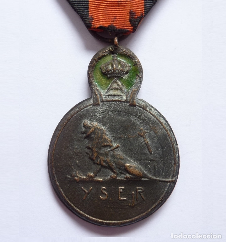 BÉLGICA: MEDALLA DE LA BATALLA DE YSER (1914). PRIMERA GUERRA MUNDIAL (Militar - Medallas Extranjeras Originales)