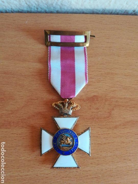 MEDALLA ORDEN DE SAN HERMENEGILDO PREMIO A LA CONSTANCIA MILITAR FERNANDO VII (Militar - Medallas Españolas Originales )