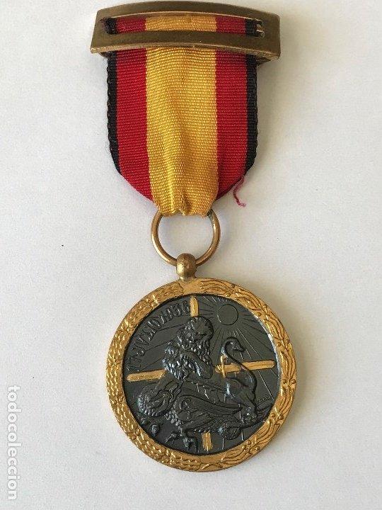 Militaria: Medalla de la Campaña Guerra Civil. 17 Julio de 1936. Industrias Egaña - Foto 2 - 175508779