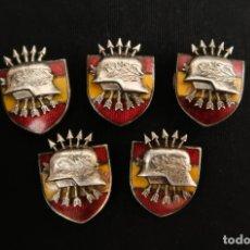 Militaria: LOTE 5 INSIGNIAS DE LA DIVISION AZUL EXCOMBATIENTES MUY RARAS. Lote 175515838
