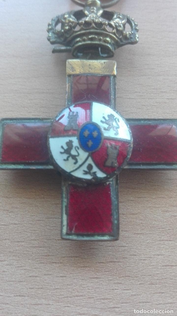 Militaria: Medalla Mérito Militar roja. Época Alfonso XII - Foto 3 - 175848945