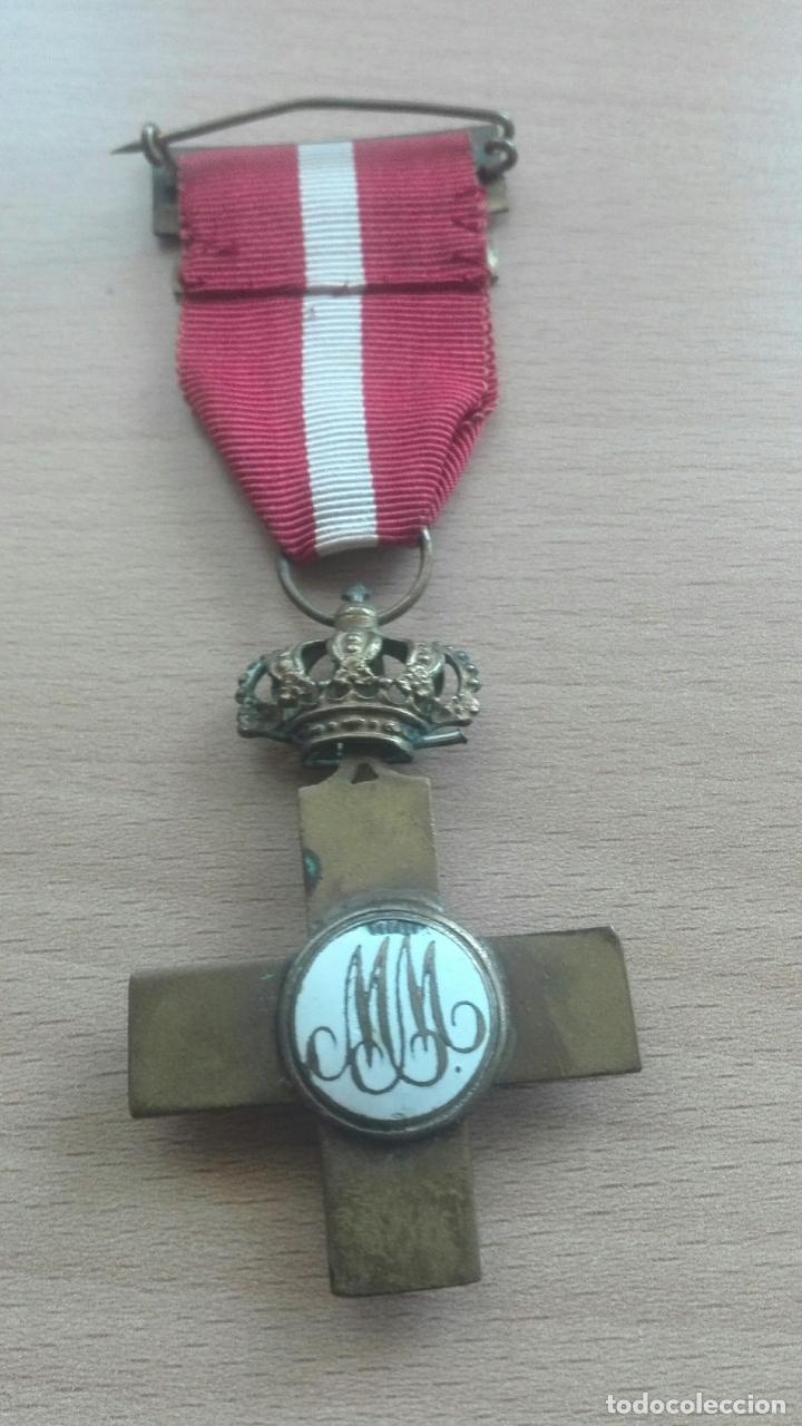Militaria: Medalla Mérito Militar roja. Época Alfonso XII - Foto 5 - 175848945