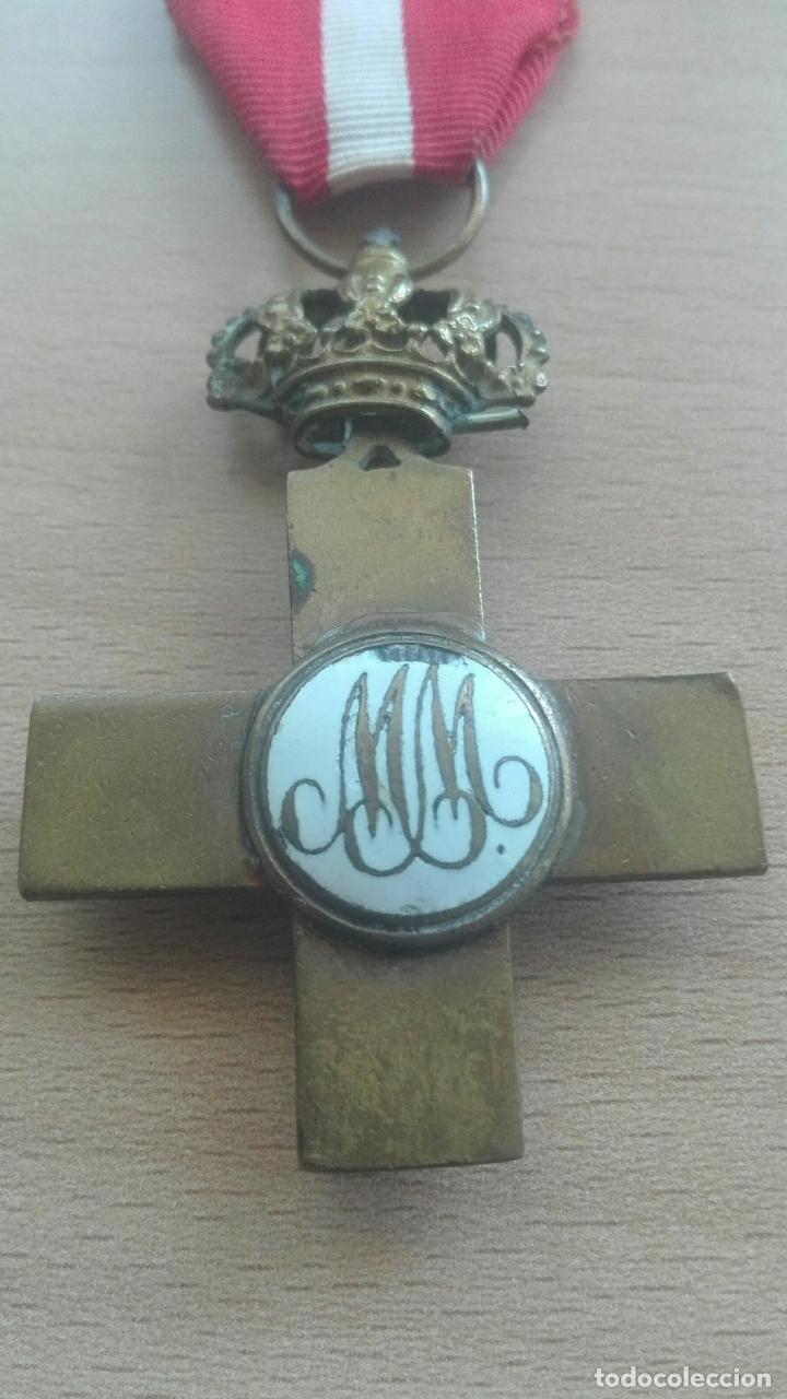 Militaria: Medalla Mérito Militar roja. Época Alfonso XII - Foto 6 - 175848945