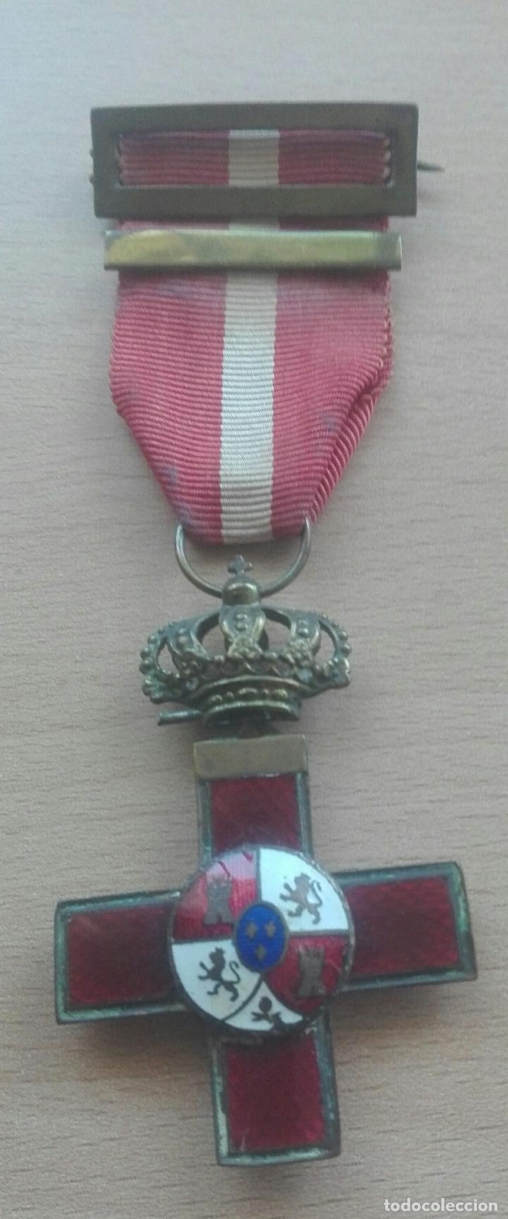 MEDALLA MÉRITO MILITAR ROJA. ÉPOCA ALFONSO XII (Militar - Medallas Españolas Originales )