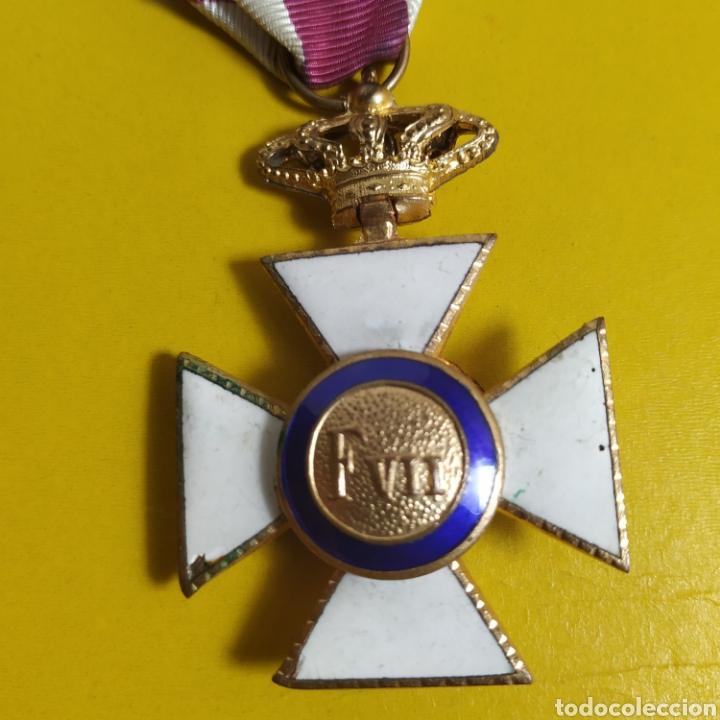 Militaria: Medalla de la real orden de San Hermenegildo.Premio a la constancia militar - Foto 5 - 175977279