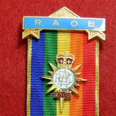 Militaria: ORIGINAL - GRAN LOGIA MASONICA INGLATERRA. MASON – RAOB MILENIUM 200 - MILLENIUM PEACE FOR ALL TIME. Lote 176005585