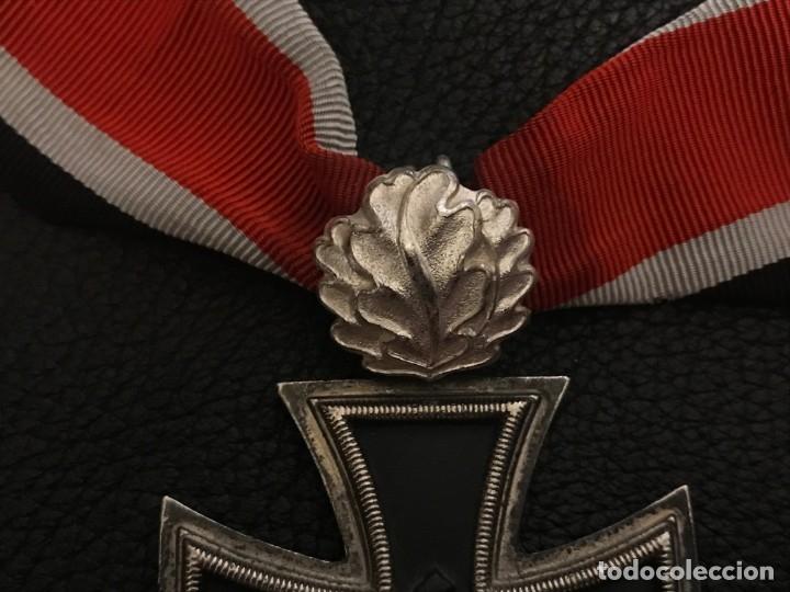 Militaria: Cruz de Caballero con hojas de roble eichenlaub ritterkreuz Reich Hitler Fuhrer NSDAP nazi - Foto 5 - 82347888