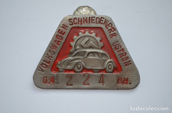 Militaria: WWII The German badge Volkswagen Schmiedewerk Ustron - Foto 1 - 228069700